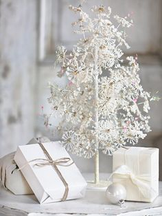 Beautiful glittery Christmas tree