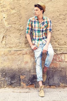 checkered shirt with jeans - get the city summer look
