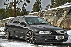 B5 Audi S4 in the snow