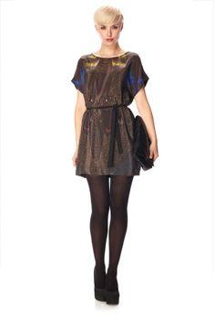 Dreamscape Silk T-Shirt Dress