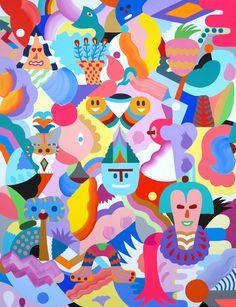 Zosen & Mina Hamada painting