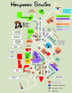 Kenny The Pirate Character Locator - Hollywood Studios Map
