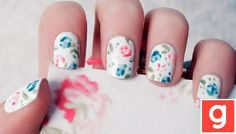 www.galeene.com floral nails!! so cute!