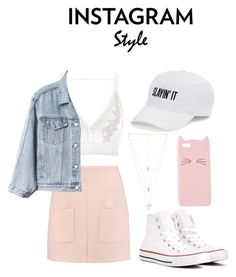 """""""Instagram Style - 3"""" by mylanelle ❤ liked on Polyvore featuring See by Chloé, River Island, Gap, Converse, SO, Charlotte Russe, Natalie B, 60secondstyle and PVShareYourStyle"""