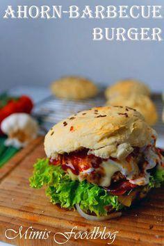 Für alle experimentierfreudigen Burger-Fans - dies ist mein Ahorn BBQ-Burger. Für mich einer der liebsten Burger, denn er ist geschmacklich rund. Süß-Würzig