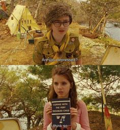 Moonrise Kingdom (2012) dir. Wes Anderson (I love the Saul Bass inspired book cover)