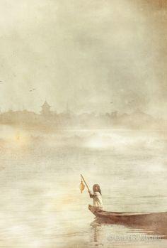 Lightingt Her Path Along The Mekong River by David et Myrtille
