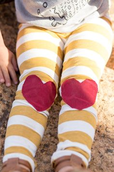Happy Campers Shop heart knee patch leggings