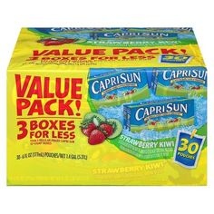 Capri Sun Value Pack Strawberry Kiwi 30 ct