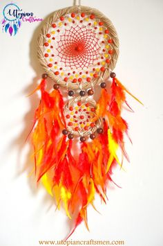 Dreamcatchers by Anusha Bhadauria. +91 909 659 5656. www.utopiancraftsmen.com String Art Tutorials, Craft Supplies Online, Wooden Rings, Dreamcatchers, Thread Crochet, Craftsman, Glass Beads, Arts And Crafts, Wall Decor