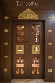 Door design modern Front Double Door Designs for Indian Houses: 7 Ideas That Stand Out! Pooja Room Design, Door Design Interior, Wooden Front Door Design, Temple Design For Home, Room Doors, Indian Homes, Room Door Design, Pooja Door Design, Pooja Room Door Design