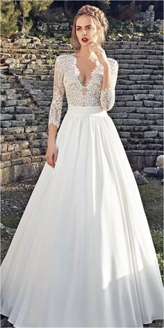 Lace Sleeves Wedding Dresses (21)