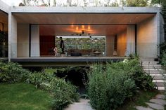 Geometric Concrete House in Mexico is Brutalist Beauty - Curbedclockmenumore-arrow : Its open-plan living spaces, rooftop deck, and lush site are eye-popping Concrete Architecture, Architecture Images, Minimalist Architecture, Residential Architecture, House Architecture, Isaac Broid, Journal Du Design, Design Exterior, Concrete Houses