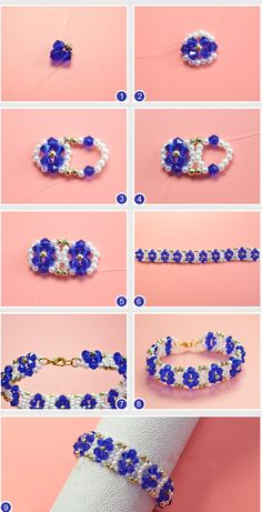 ideas on making a and - DIY Schmuck Diy Jewelry Projects, Jewelry Making Tutorials, Jewelry Crafts, Beaded Bracelets Tutorial, Beaded Bracelet Patterns, Bead Jewellery, Seed Bead Jewelry, Armband Diy, Beaded Rings