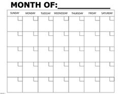 Monthly Calendar | Back to Basics