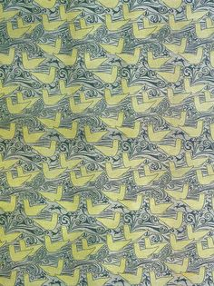 'Seagulls' textile design by C F A Voysey, produced by Alexander Morton & Co in 1895
