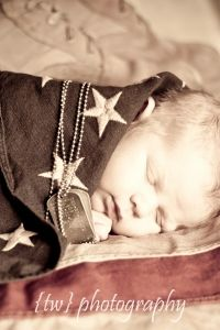 LOVE the military baby picture wrapped in a flag :) @Kelsey Myers Weedin can you please have babies on the fly and take adorable pictures like this! Pleaseeeee and thank you!