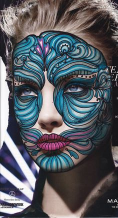 Makeup make up art, bodypainting, face paint makeup, mask makeup, fx Maquillage Halloween, Halloween Makeup, Fantasy Make Up, Theatrical Makeup, Bodysuit Tattoos, Make Up Art, Special Effects Makeup, Crazy Makeup, Weird Makeup