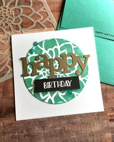 Happy Birthday circle card using Nuvo Embellishment mousse