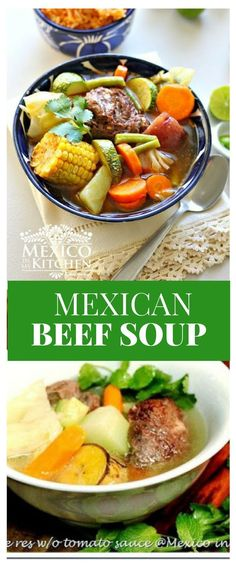 Add lost of vegetables to your dish, either steamed, sautéed or raw. Enjoy! #recipe #mexican #soups #kitchen