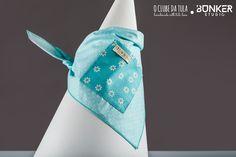 Green Dots Vichy Civic Dog® scarf, square pocket. http://civicdog.com/product/tuli-pañuelo-civic-dog-dots-verde-agua