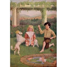 Moufflou & Other Stories 1910 Dog tricks Canvas Art - Maria Kirk (24 x 36)