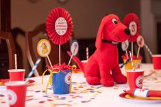 Clifford the Big Red Dog Birthday Party Ideas | Photo 2 of 28 | Catch My Party