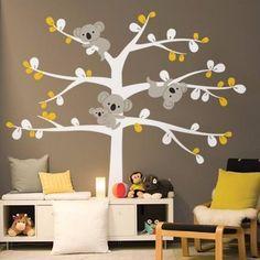 vinilo decorativo infantil arboles koalas 180cm x 180cm