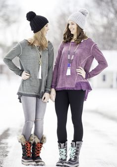 """Olive Relaxed Top"" is $36.00 at Too Blue Boutique! Shop online & get free shipping on all orders! #freeshipping #boutique #snow #pictures #sorel #beanie #necklace #shoponline"