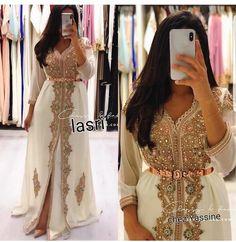 Kaftan dress Moroccan New Caftan dress For women Morrocan Wedding Dress, Morrocan Dress, Moroccan Bride, Caftan Dress, Anarkali Dress, Indian Anarkali, Hijab Dress, Beautiful Dresses, Nice Dresses
