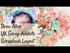 Here's my UK Scrap Addicts layout process for this months theme of fussy cutting. Addiction, Mixed Media, Scrapbooking, Rainbow, Crafty, Make It Yourself, Videos, Creative, Youtube