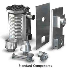 Stainless steel construction, natural gas or propane, good for sauna rooms up to 620 cubic feet.