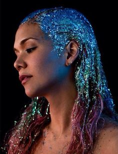 Love glitter hair, perfect for NYE x                                                                                                                                                     More
