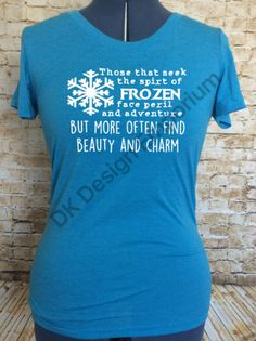 Frozen Maelstrom Inspired Fitted Women's Tee  by DKDesignEmporium