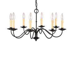 Livex Lighting 4468-04 8 Light Heritage Chandelier, Black