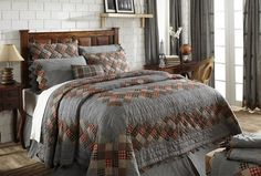 Create a cozy room with our Beacon Hill queen quilt bundle from Primitive Star Quilt Shop which features a queen quilt, a queen bed skirt and 2 standard shams. Twin Quilt, Quilt Bedding, Bedding Sets, Primitive Bedding, Primitive Quilts, California King Bedding, Patchwork Patterns, Queen Quilt, Cozy Place