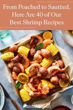 No matter which way you fry, stir, boil, or bake them, these shrimp recipes offer endless inspiration for weeknight meals and dinner parties alike. #marthastewart #recipes #recipeideas #seafoodrecipes #seafooddinners #seafood Best Shrimp Recipes, Fish Recipes, Seafood Recipes, Dinner Recipes, Shrimp Salad, Scampi, Coconut Shrimp, Dinner Parties, Weeknight Meals