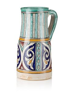 71% OFF Hand-Painted Ceramic Pitcher (Multi)