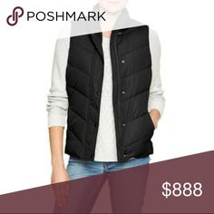"""GAP Black Warmest Puffer Vest Quilted outer. Poly inter. Stand collar. Excellent condition! 19.5"""" armpit to armpit, 24"""" long. GAP Jackets & Coats Vests"""