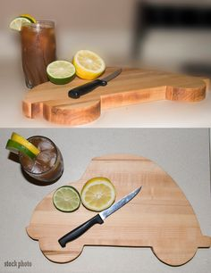 VW bug cutting board by THTWoodworking on Etsy
