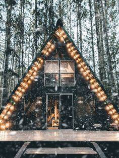 Check out this classic PNW A-frame cabin!
