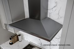 Upgrade: Anzio Black Stainless Range Hood with anti-smudge coating for easy cleaning. Retro Appliances, Cleaning Appliances, White Appliances, Electronic Appliances, Electrical Appliances, Black Stainless Range Hood, Black Stainless Steel, Light Icon