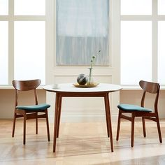 Fishs Eddy Expandable Dining Table , Walnut at West Elm - Dining Tables - Dining Room Furniture West Elm Dining Table, Farm Dining Table, Pedestal Dining Table, Table And Chairs, Dining Set, Small Dining Tables, Kitchen Tables, Lounge Chairs, Farmhouse Table