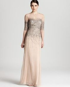 an ombre nude gown would look stunning on a Mother of the Bride