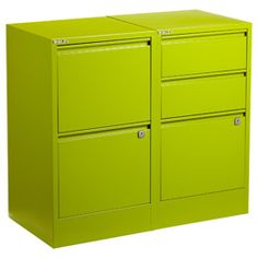 The Container Store > Green Bisley® File Cabinets -- colorful file cabinets!!! finally!!! Red, blue, orange, yellow too!