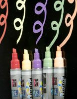 A solution to the chalk dust problem.  Chalkboard Markers