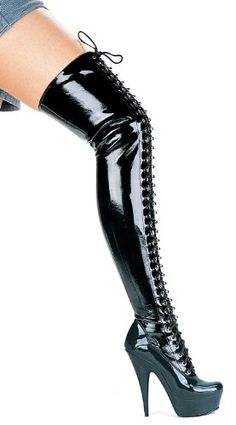 6 Inch Pointed Stiletto Thigh High Boots Womens Size Shoe Black7 *** Read more  at the image link. (This is an Amazon affiliate link)