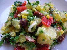 ΝΗΣΤΙΣΙΜΗ ΠΑΤΑΤΟΣΑΛΑΤΑ Η νηστίσιμη πατατοσαλάτα είναι και θρεπτική και πλούσια σε γεύση. Φτιάχνεται γρήγορα κι εύκολα χωρίς να περιττ... Potato Salad, Potatoes, Ethnic Recipes, Food, Eten, Potato, Meals, Diet