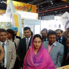 Inaugurating India Pavilion at GulFood 2016, Dubai was a sheer delight. It is an avenue for interaction of the Indian exhibitiors with the sagacious investors from UAE. #harsimratkaurbadal #foodprocessing #GulFood 2016 #Dubai #akalidal
