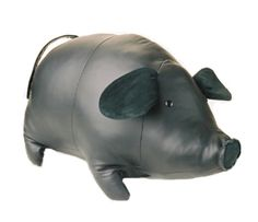 Keiko the Pig Ottoman Super Cute! Made of genuine leather, you can use it as an ottoman or a pet for your kids. And then you don't have to clean up after it! Leather Stool, Leather Ottoman, Go To Bed Early, Grey Gardens, Girly Things, Girly Stuff, Bonded Leather, Clean Up, Piggy Bank